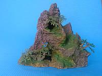 Скала с деревцами KD--039, дл 24см, шир 14см, в 22см, фото 1