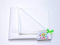 Хлопковая подкладная пеленка/клеенка пропитанная латексом белая
