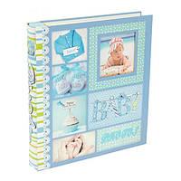 """Фотоальбом магнитный на 20 листов """"Этапы взросления"""", в коробке, синий, фото 1"""