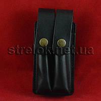 Подсумок кожаный Медан для 2 магазинов АПС