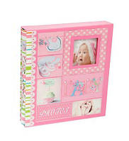 """Фотоальбом магнитный на 20 листов """"Этапы взросления"""", в коробке, розовый, фото 1"""