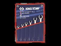 Набор ключей разрезные 6шт. 8-22 мм King Tony 1306MR