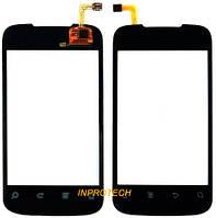 Сенсор (тачскрин) Huawei C8650 Black с клейкой лентой