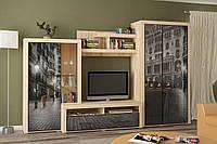 Стенка Неон-2 Мебель Сервис 2180*3400*605 мм