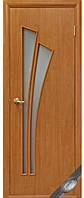 Дверь МОДЕРН ЛИЛИЯ покрытие: экошпон, ПВХ (стекло сатин без рисунка)