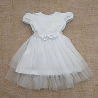 Платье белого цвета 68, 74, 80,86