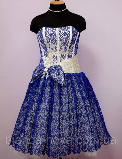 Платье-пачка  Синева