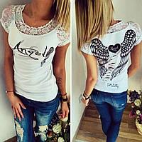 "Белая футболка ""Angel"""