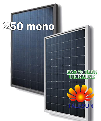 TALESUN TP660M-B-250WP солнечная панель (батарея, фотомодуль) монокристалл 250 Вт - ECO TECH UKRAINE солнечная энергетика, энергоэффективные технологии. Продажа, строительство, сервис. в Кривом Роге