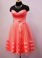 Платье-пачка  Коралловый бант