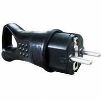Вилка 2247 з ручкою з/з штепсельна каучук чорна 16А 250V IP44 Eltis Electric