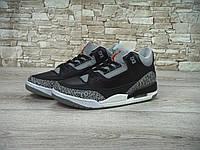 Спортивные кроссовки Nike air jordan. (найк) черные с серым