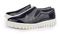 Туфли женские слипоны лаковые черные на белой подошве Mango туфли женские интернет магазин