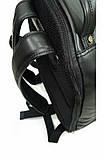 Рюкзак кожаный мужской чёрный 31143, фото 5
