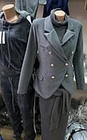 Женский кашемировый серый пиджак