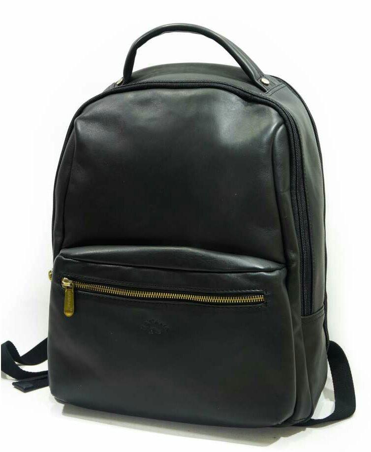 Рюкзак кожаный мужской чёрный 31143