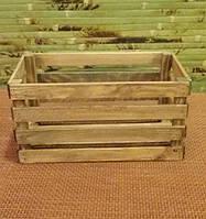 Ящик-кашпо для цветов деревянный на два цветка
