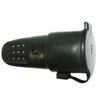 Розетка 2228 з кришкою з/з каучук чорна 16А 250V IP44 Eltis Electric