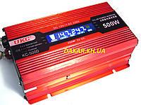 Преобразователь напряжения 12V в 220V 500W UKC KC 500D с LCD дисплеем инвертор 12В-220В 500Вт