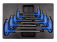 Набор L-обр ключей TORX 1163R 8пр Т10-Т50 King Tony 9-22308PR