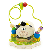Деревянная игрушка Лабиринт Буренка Д384