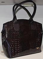 Сумка стильная лакированная  женская Саквояж  каркасная  17-35313-1