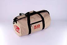 "Спортивная сумка - тубус ""FitGo"" (бежевая), фото 2"