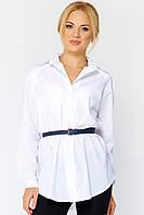 Классическая белая рубашка из коттона Алита