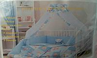 Красивый детский комплект в кроватку 4471