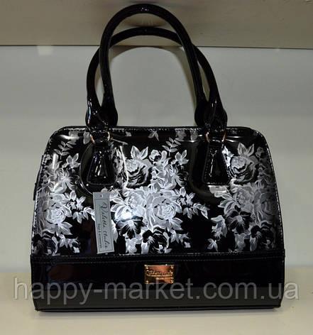 Сумка женская стильная классическая каркасная  Цветы  Fashion 553001-20, фото 2