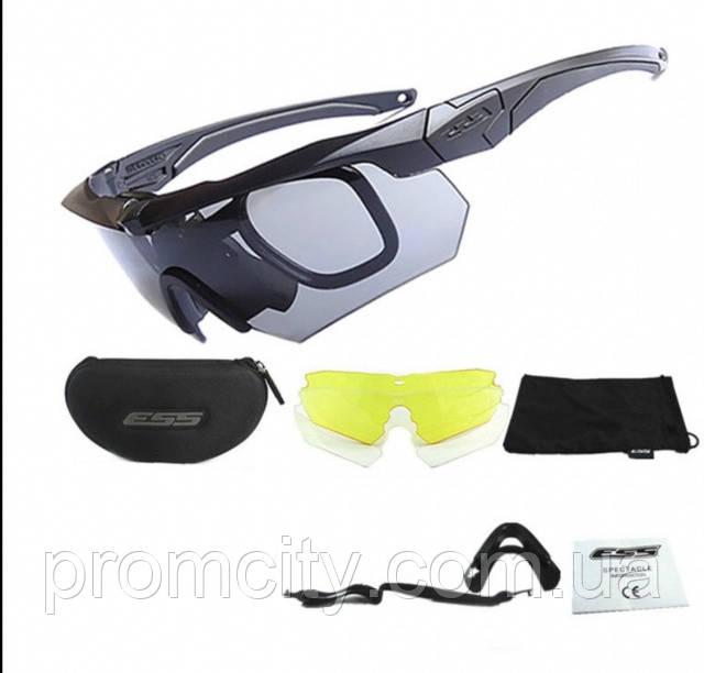 Тактические очки ESS Crossbow 3 линзы - интернет-магазин