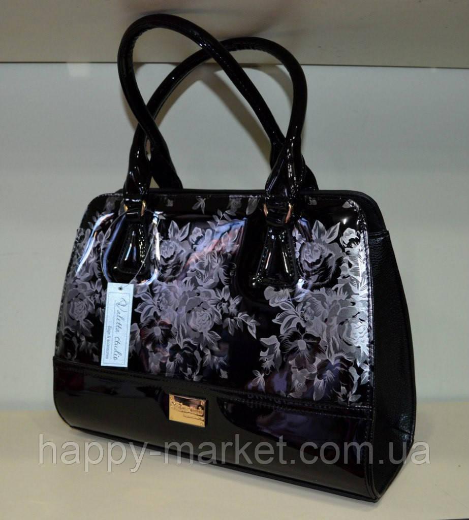 Сумка женская стильная классическая каркасная  Цветы  Fashion 553001-20
