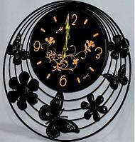 """Оригинальные металлические настенные часы """"Каприз"""" 51х51 см"""