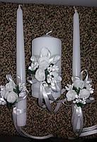 """Комплект свадебный свечей """"Белый букет"""""""