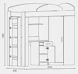 """Кровать со столом и шкафом """"Кровать-чердак"""", фото 3"""