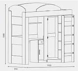 """Кровать со столом и шкафом """"Кровать-чердак"""", фото 4"""