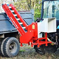 ИЗМЕЛЬЧИТЕЛЬ ВЕТОК (ВЕТКОРУБ)  АМ-120ТР-К Тракторный с погрузочным транспортёром