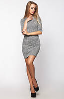 Трикотажное женское платье в клеточку Милена Leo Pride 42-46 размеры