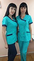 Женский медицинский костюм на пуговицах (короткий рук)