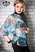 """Женская блуза """"Нелли"""" (голубой), фото 1"""