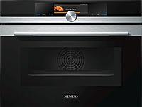 """Компактный духовой шкаф электрический с функцией """"микроволновая печь""""  Siemens CM678G4S1"""