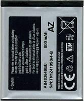Аккумулятор АКБ Samsung J770 J160 J200 B3210 B3310 C3050 S6700 S7350 S8300 E74 AB533640BU AB483640BE