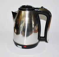 Чайник электрический дисковый Opera Plus OP-801/803/805, защита от перегрева, 2 л, нержавеющая сталь, 2000 Вт