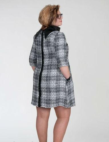 4c96af920d7 Женское платье туника для беременных шерстяное повседневное в клетку  Флоренс размеры 48