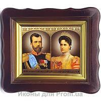 Фигурная икона Николай царь и царица