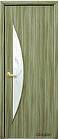 Дверь МОДЕРН ЛУНА экошпон: венге 3D, дуб жемчужный, кедр, ясень, ольха (стекло с рисунком Р3)