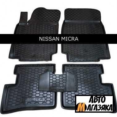 Коврики полиуретановые для Nissan Micra (2003-2010 ) (Avto-Gumm)