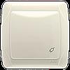Розетка VIKO Carmen (с заземлением), крышкой и защитными шторками Крем (90562012)