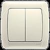 Выключатель 2-х клавишный VIKO Carmen Крем (90562002)