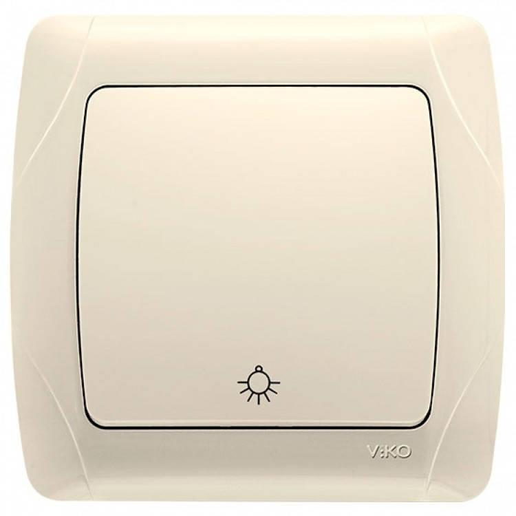 Кнопочный выключатель VIKO Carmen Крем (90561003)
